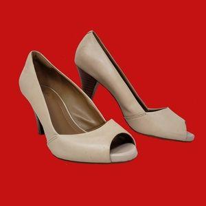 """Clark's Nude 2"""" Open Toe Heels"""